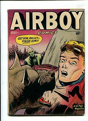 Airboy Comics #6 FN+ 6.5 VINTAGE Hillman Publications Comic Golden Age 10c
