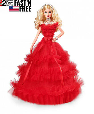 USA 2018 Holiday Collector Barbie Signature Doll with Stand