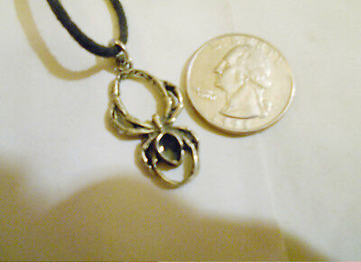 bling pewter myth western crawling spider pendant charm chain hip hop necklace