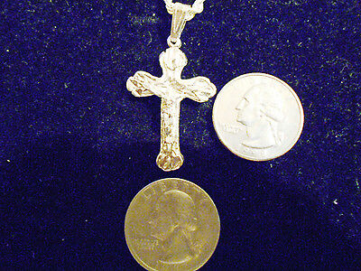 bling silver plated jesus cross crucifix charm chain hip hop necklace JEWELRY EP