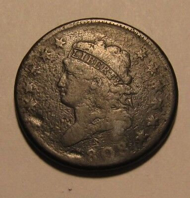 1808 Classic Head Large Cent Penny - Circulated Condition - 83SU-3