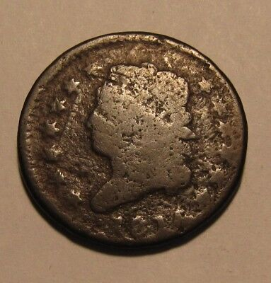 1814 Classic Head Large Cent Penny - Corroded Condition - 85SU-3