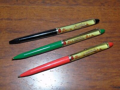 3 Vintage Floaty Ink Pens Trier Germany Souvenir Floater Moselle River Boats