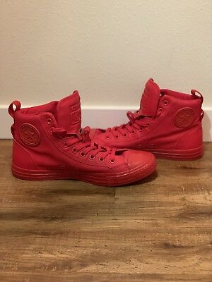 7ea63c0a7c60f3 Converse Chuck Taylor All Star High Top Red LEATHER Sneakers Men s Size 9