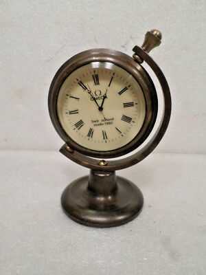 Table Mechanical Wind Up Clock With Multi Color Reverse Portrait