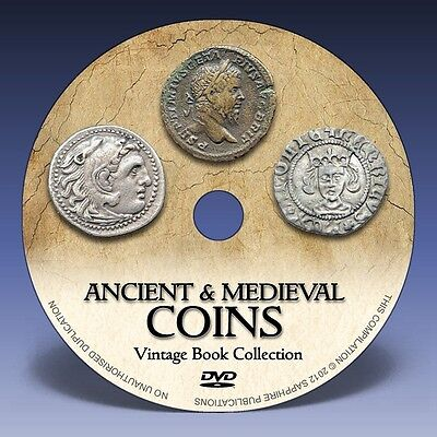 ANCIENT & MEDIEVAL COINS - 180 Rare Books on DVD! - Greek Roman Numismatics