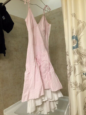Women's Flamenco Dress, Pink and White, Size 2, From Spain - Great condition!