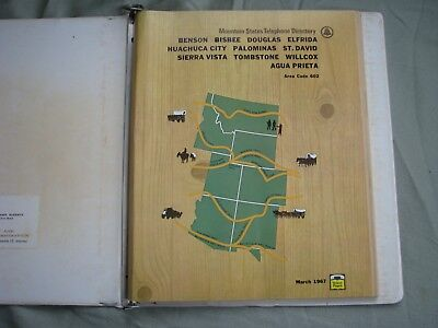 1967 Mountain States Telephone Book Bisbee Tombstone Az Mining Vg Map Illus Nr