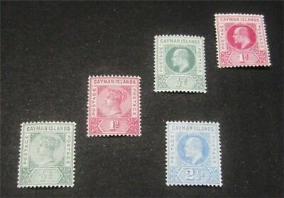 nystamps British Cayman Islands Stamp # 1-5 Mint OG H/NH $54