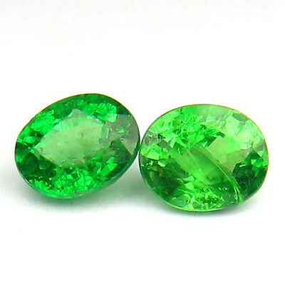 0.97Ct TOP GORGEOUS ! STUNNING NATURAL UNHEATED GREEN TSAVORITE GARNET