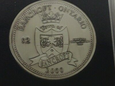 2000 Bancroft $2 Token, Mineral Capitol of Canada