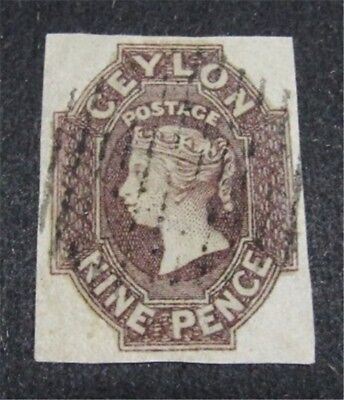nystamps British Ceylon Stamp # 9 Used $1050
