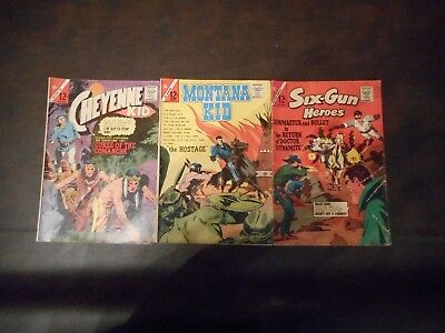 Lot of 3 Charlton Silver Age Western Comics 1964