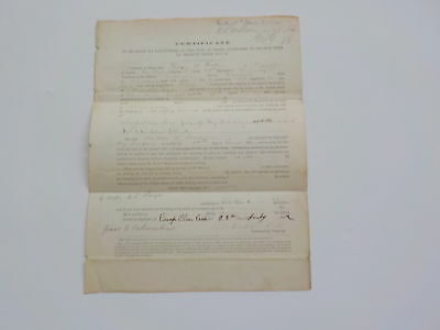 Civil War Document 1862 Blind Soldier 59th Indiana Carlisle Camp Clear Creek VTG
