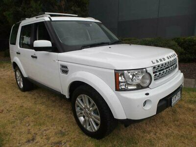 2013 Land Rover Discovery 4 MY13 3.0 TDV6 White Automatic 8sp A Wagon