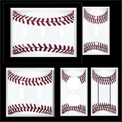 Baseball  Light Switch Cover Plate  Or Outlet Sports Decor