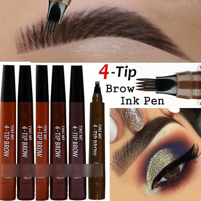 4 Fork Tip Women Eyebrow Pen Tattoo Pencil Waterproof Long Lasting Makeup Beauty