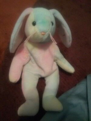 TY BEANIE BABY - HIPPIE the Tie-Dyed Bunny (8.5 inch) - MWMTs ... 53ab1111ee31