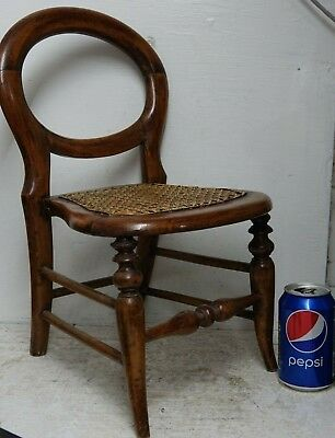 Wonderful Old Miniature Balloon Back Chair Tradesman's Sample Extremely Rare
