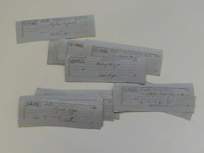 32 Antique Documents 1860 Road Work Preble Adams County Indiana Lot Paper VTG IN
