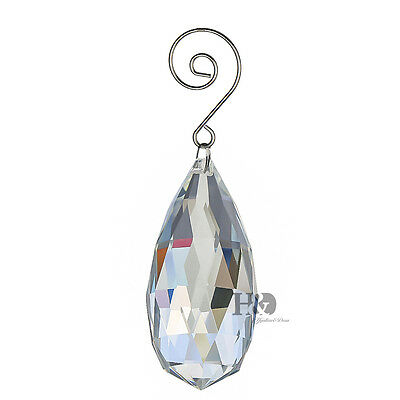 1 Large 75mm Clear Crystal Chandelier Lighting Prism Part Hanging Drop Pendant