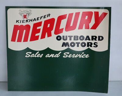 MERCURY OUTBOARD MOTORS Sales Service Boat Sign with Wave