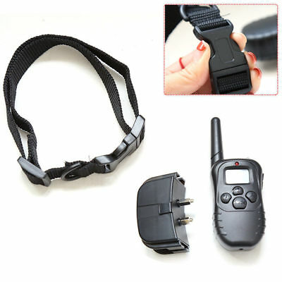 Pet Dogs Remote Training Collar Electric LCD 100LV Shock Anti Bark &Battery US