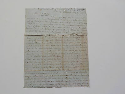Antique Letter 1854 Colored Indian Waiter Vienna Illinois Steamer Ship