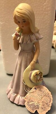 Enesco #14 Growing Up Birthday Girl Porcelain Doll BLONDE COLLECTIBLE!
