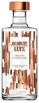 Absolut `Elyx` Vodka (6 x 700mL), Sweden.