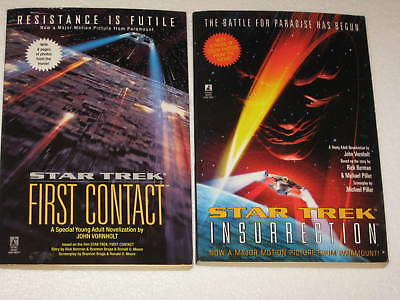 Star Trek First Contact & Insurrection Lot of 2 Movie Novels Unread New OldStock