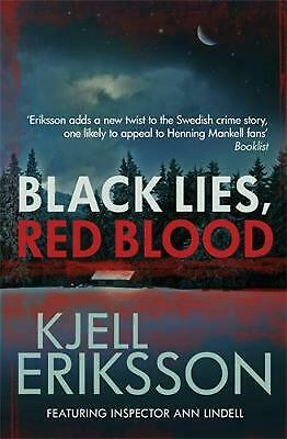 Black Lies, Red Blood by Kjell Eriksson Paperback Book Free Shipping!