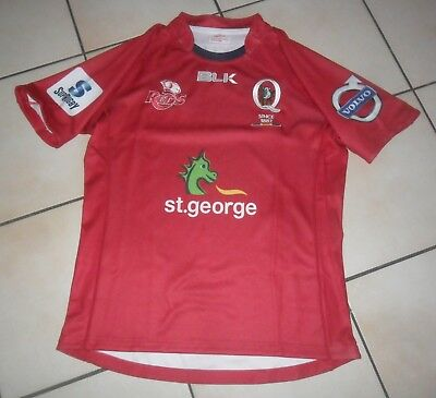 Bnwot - Reds - Blk -  Super Rugby Jersey - Official Product - Large