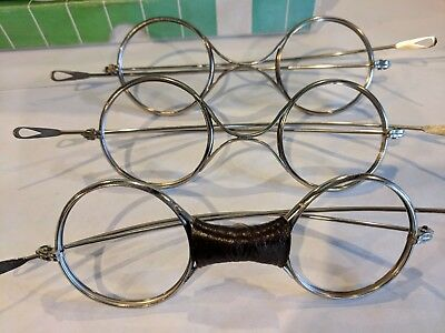 3 pair of Vintage American Optical Melters Goggles Model 1031E. No lenses