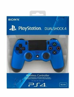 100% Blue PS4 PlayStation4 Dualshock 4 Joystick Gamepad Wired Controller