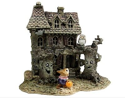 Wee Forest Folk Retired Haunted Mouse House with Spooky Trees Only Made 4 Months