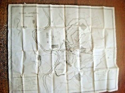 Vintage Silk Map Of Old Rome Italy - E P Williams Eton Approx 76 x 60cms