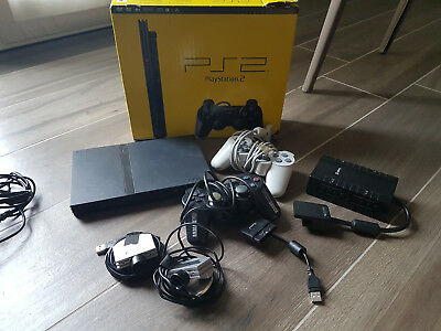 Console Sony Playstation 2 Ps2 Slim Con Scatola 2 Joystick 2 Telecamere 1 Lettor
