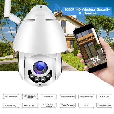 Telecamera IP Camera 2MP HD 1080P Wifi Wireless IR Motorizzata IP66 Impermeabile