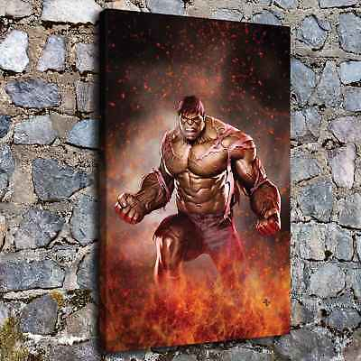"12""x18""Avengers Hulk HD Canvas prints Painting Home decor Picture Room Wall art"
