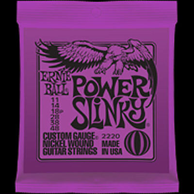 ERNIE BALL E2220 POWER SLINKY 11-48 Custom Gauge Nickel Wound Electric Guitar...