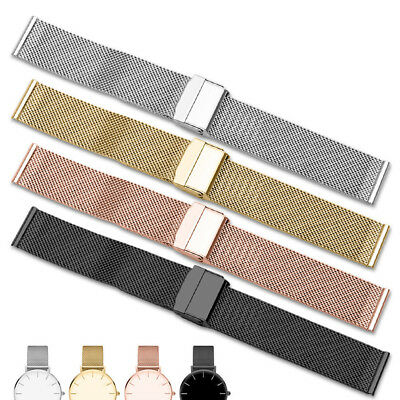 Mesh Weave Stainless Steel Watch Band Link Wristwatch Strap Clasp Watches Parts