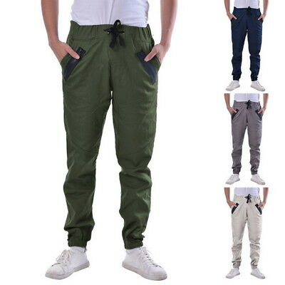 Homme Casual Sport Pantalon De Jogging Bas Survêtement Lacet Sweatpants
