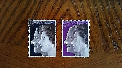 Complete used GB stamp set - 1972 Royal Silver Wedding