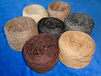 925gms SHETLAND WOOL - 2/9s - 4ply - MIXED BROWN/BEIGE KNITTING YARN - new