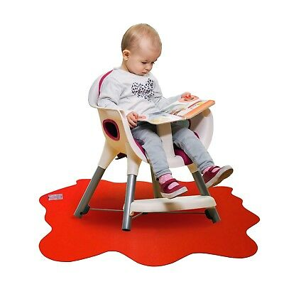 High Chair Mat No Mess Splash Child Mat Feeding Painting Durable Solid Plastic