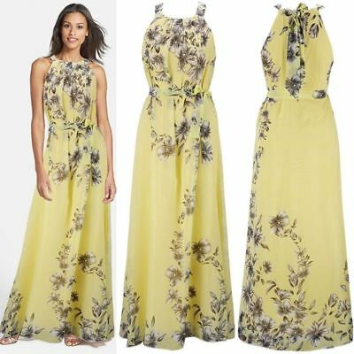 Womens Vintage Maxi Floral Evening Party Dress Ladies Formal Wedding Lace Dress