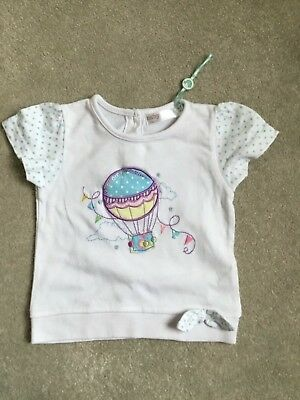Baby Girls T Shirt 6-9 Months - M And Co - Used Excellent Condition