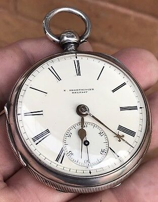 A Gents Large Excellent Condition Solid Silver Early Fusee Pocket Watch, 1892...