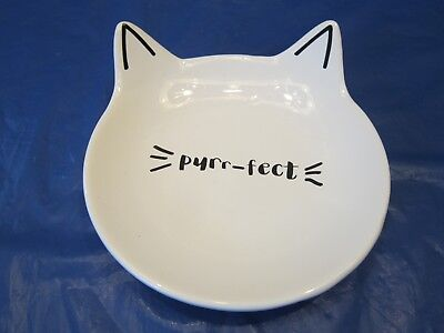 Purr-Fect Cat Dish With Ears Isaac Jacobs Int. Food Plate Or Jewelry Coin Holder